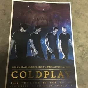 Rare COLDPLAY Collectible Concert Poster!